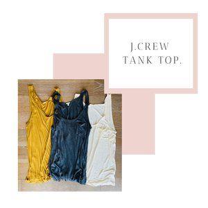 J.Crew Modal Front Pocket Tanks | All 3